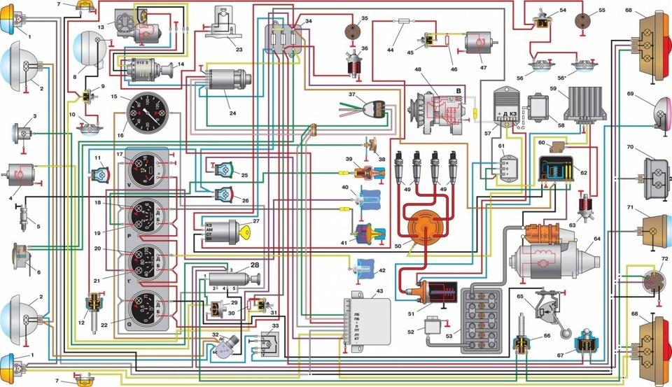 Электропроводка отечественной Буханки