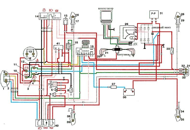Схема зажигания мотоцикла ИЖ