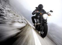 Мотоцикл с водителем