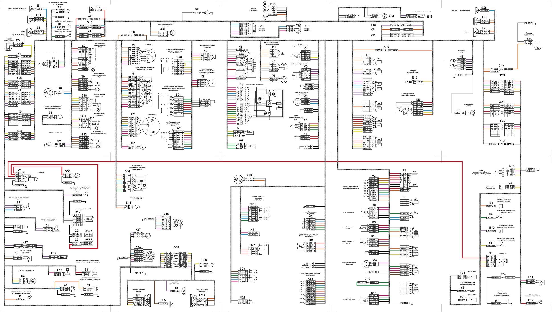 Общая схема электросети отечественного грузовика