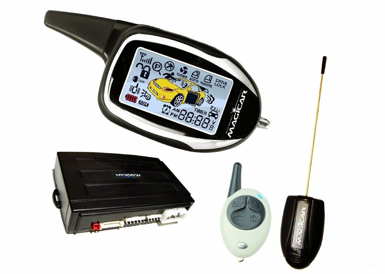 Пульт управления, блок, антенный адаптер и запасной пульт сигналки Magicar