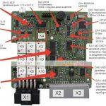 Обозначение элементов на плате контроллера