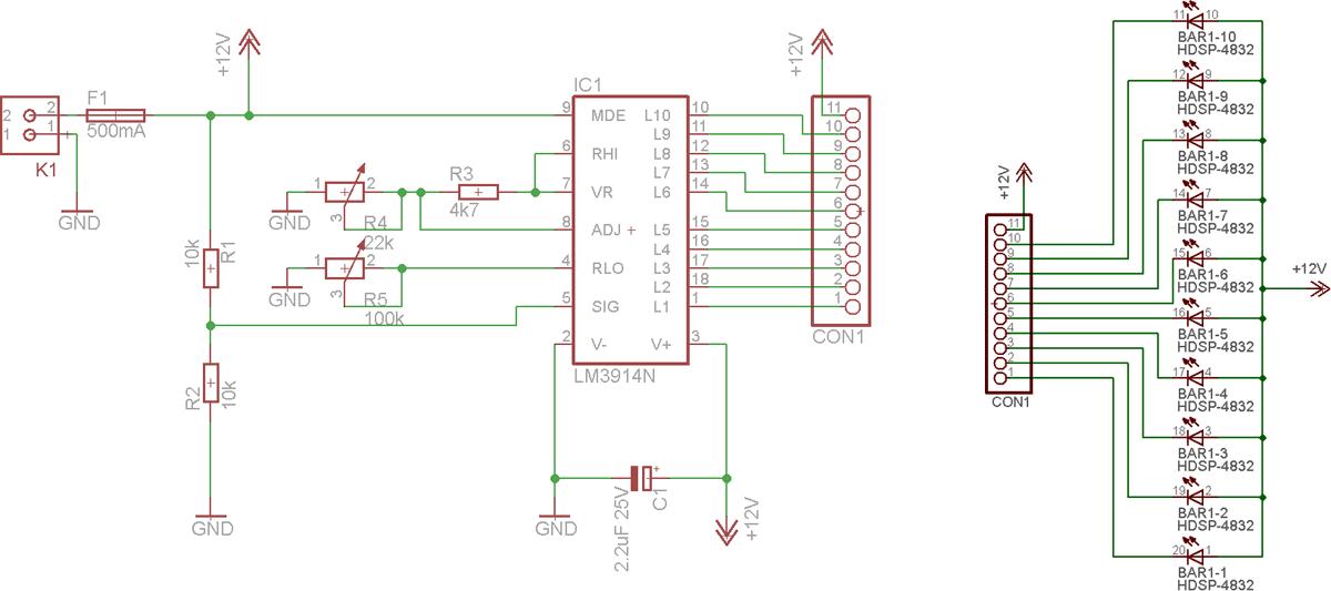 Схема для изготовления диодного индикатора