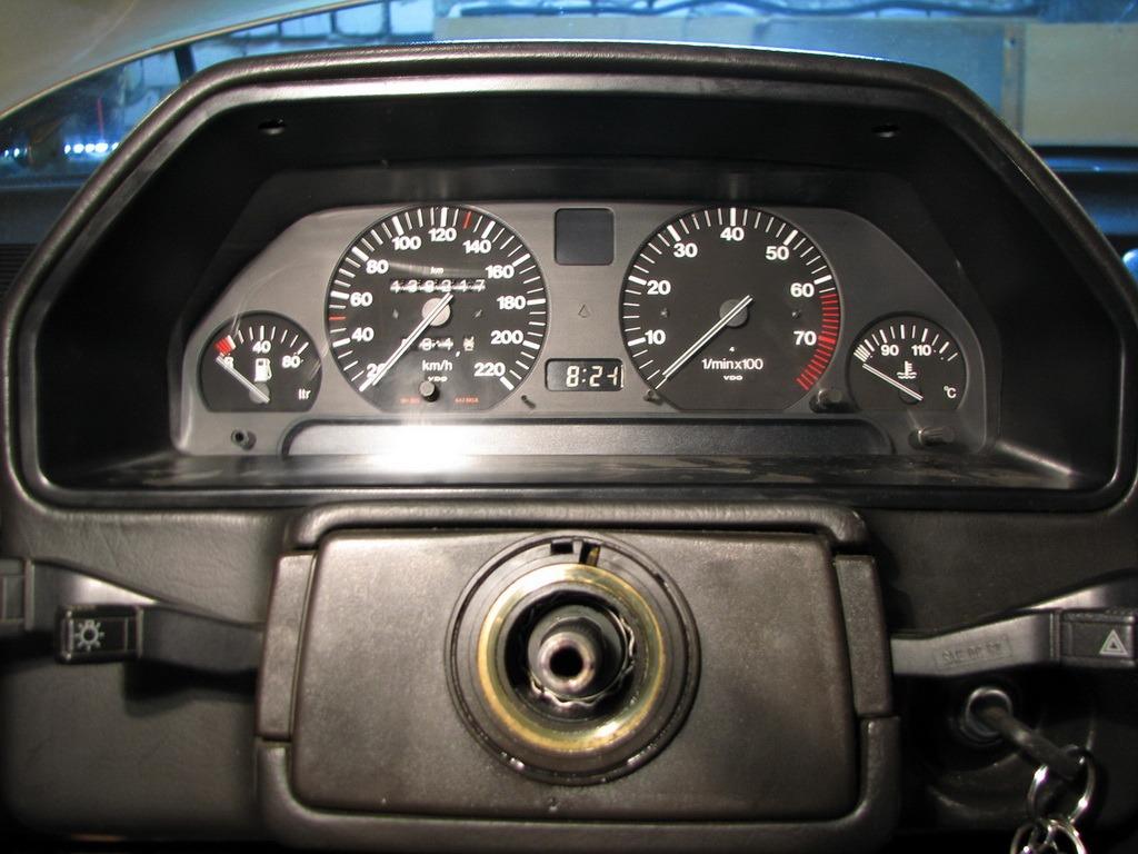 Вид со снятым рулем