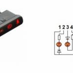 Схема контактов модуля индикации