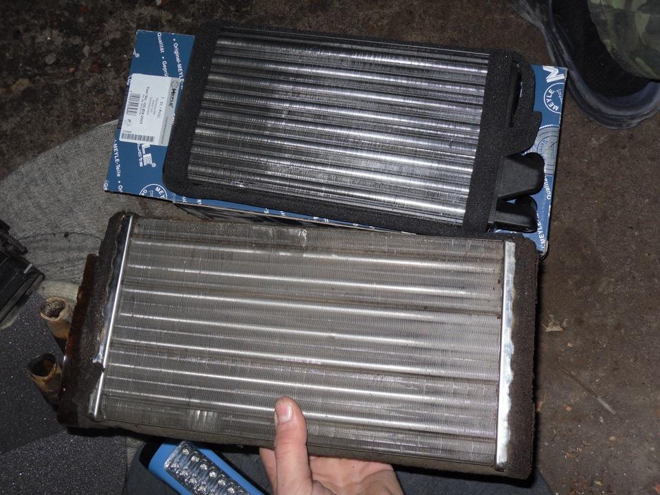 Старый и новый радиаторы Ауди