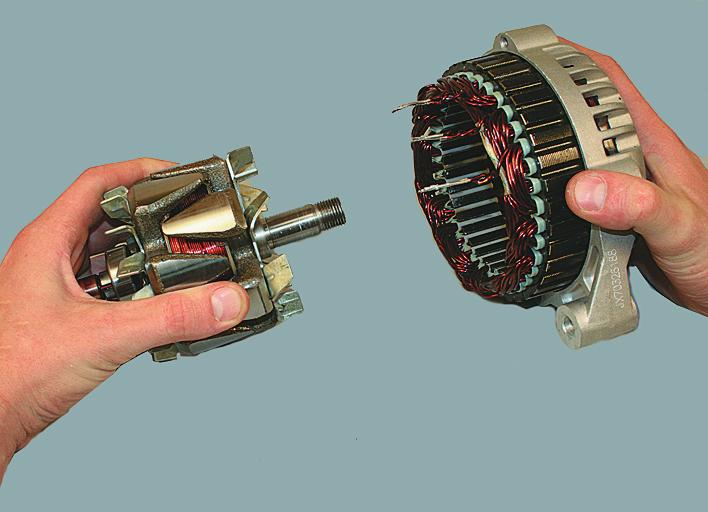 Демонтаж ротора из передней крышки