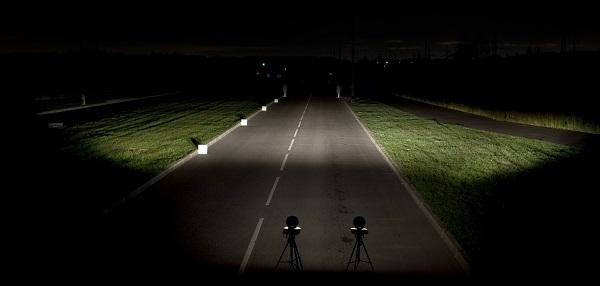 Освещение дорожного полотна
