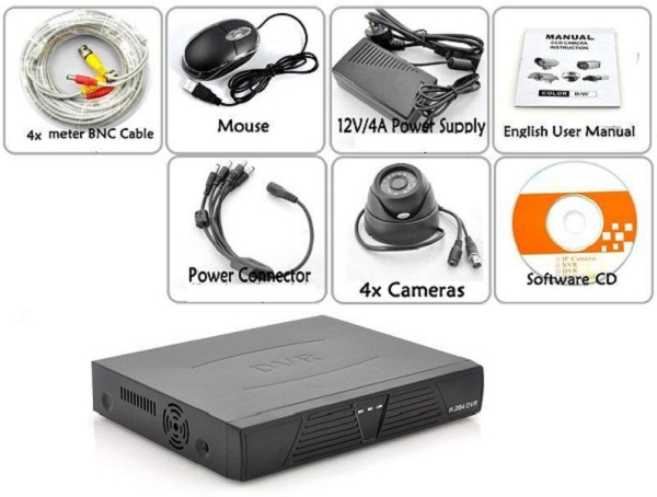 Видеорегистратор H.264 с 4-мя камерами