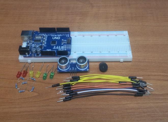 Элементы для сборки парктроника на Arduino